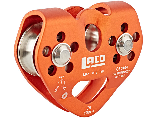 Lacd Tandem Pulley steel wheels with ball bearing orange
